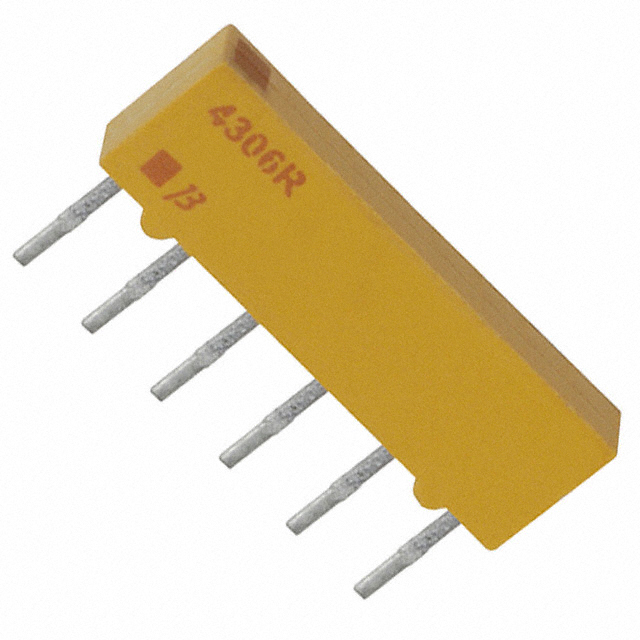 Pack of 100 Resistor Networks Arrays 680K 8Pin Isolated 4308R-102-684LF