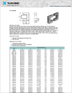 Uyf13a Datasheet High Saturation Magnetic Flux Density
