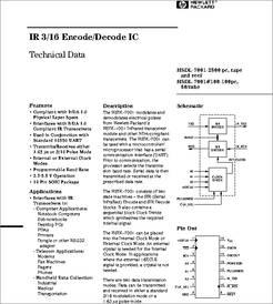 HSDL7001 datasheet - IR 3/16 Encode/decode IC