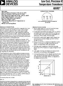 Datasheet) ad592 pdf a features high precalibrated accuracy: 0. 5.