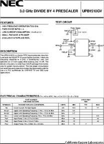 NEC UPC1678G SOP-8 2 GHz MEDIUM POWER BROADBAND SILICON MMIC AMPLIFIER