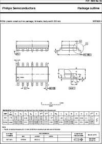 Sot108 1 Datasheet So14 Plastic Small Outline Package