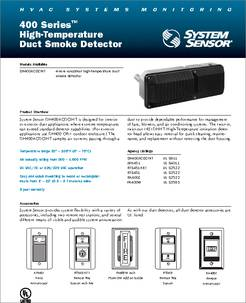 Apa451 Datasheet High Temperature Duct Smoke Detector