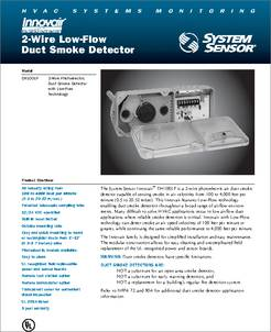DH100LP datasheet  2wire Lowflow    Duct       Smoke       Detector