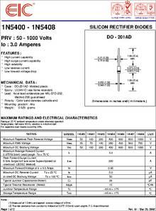 1n5408 datasheet silicon rectifier diodes