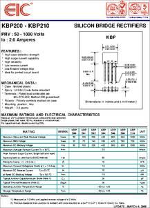 kbp206 datasheet silicon bridge rectifiers