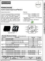 MOSFET 30V Dual N-Channel PowerTrench MOSFET Pack of 100 FDMA2002NZ