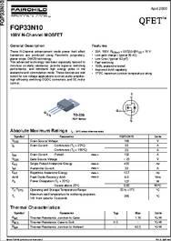 Fqp33n10 datasheet