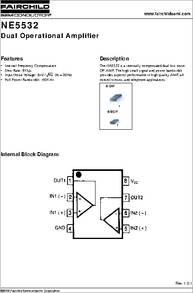 ne5532 datasheet dual operational lifier