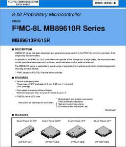 MB89613RPFM datasheet - 8-bit Proprietary Microcontroller