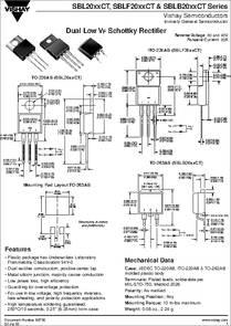 Sbl2040ct Datasheet Schottky Rectifier
