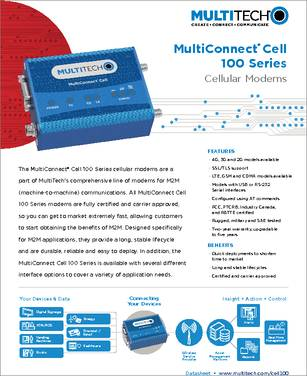 MTC-H5-B01 datasheet - Multi-Tech's MultiConnect Cell 100