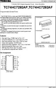 TC74HC7292AP(F) datasheet - Specifications: Manufacturer: Toshiba