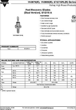70HFLR60S02 Fast Recovery Diode 70A 600V DO-5 Vishay RoHS