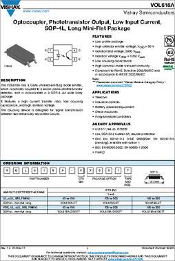 10pk VISHAY-MCT62H-OPTOCOUPLER,TRANSISTOR,5000VRMS