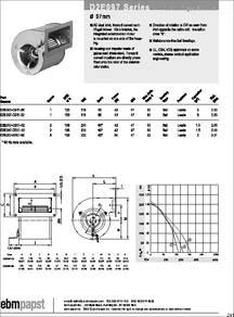 EBM-PAPST REF100-11//14 Blowers 24VDC 100mm X 25mm