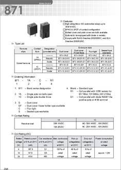 8711CCR1U0112VDC datasheet  Specifications