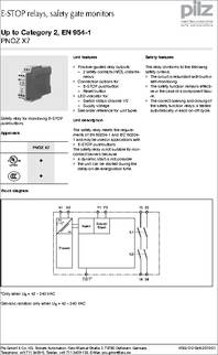 PNOZ X7 24VACDC datasheet  Specifications  Coil Voltage