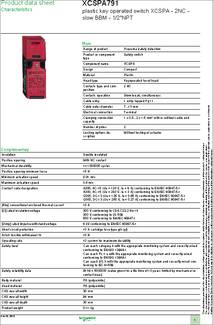 Xcspa791 Datasheet Specifications Contact Configuration