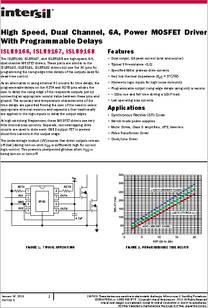 isl89166 datasheet high speed, dual channel, 6a, power mosfet