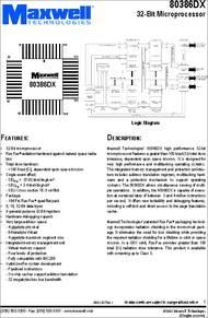 80386DX datasheet - Microprocessor,32-bit