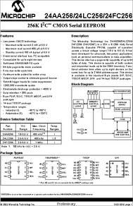 10 PCS 24LC256-I//ST TSSOP-8 256K I2C CMOS Serial EEPROM,EEPROM 32kx8 2.5V