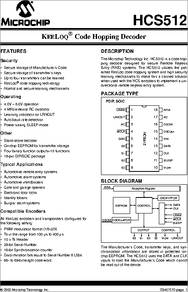 Microchip HCS512-I//P Decoder 18-Pin PDIP