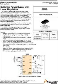 MC33998DW/R2 datasheet - Switching Power Supply with Linear