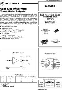 Mc3487 Datasheet Quad Eia 422 Line Driver With Three