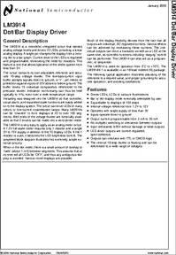 LM3914N-1 datasheet - LM3914 - Dot/bar Display Driver ...