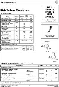 Datasheet) 2n6517 pdf transys electronics limited to-92 plastic.
