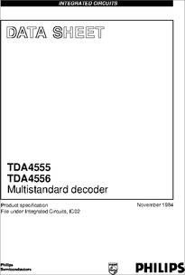 Find where to buy TDA4555.  Description.  Details, datasheet, quote.