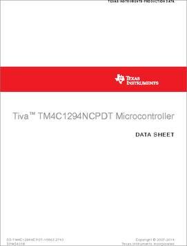 TM4C1294NCPDTI3 datasheet - Texas Instruments' Tiva™ C