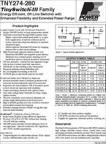 Tny274pn Tl Datasheet Energy Efficient Off Line