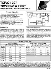 top226 datasheet 0 150 w topswitch iiusing a 100 110 vac. Black Bedroom Furniture Sets. Home Design Ideas