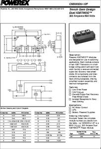 CM300DU-12F IGBT-Transistor 300A