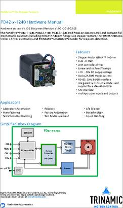 PD42-2-1240-TMCL datasheet - TRINAMIC's PD42-x-1240 are full