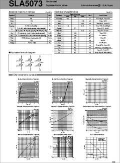 Sla5073 Datasheet Motor Driver 5 Phase Motor
