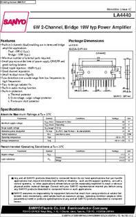 la4440 datasheet 6w 2 channel bridge 19w power amplifier. Black Bedroom Furniture Sets. Home Design Ideas