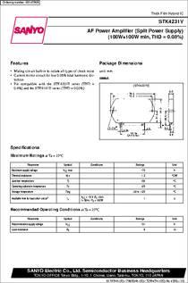 Stk4231v Datasheet Af Power Amplifier 100w 100w