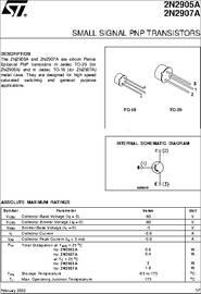 2n2905a Datasheet Small Signal Pnp Transistors