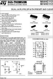 74112 Datasheet Dual J K Flip Flop With Preset And Clear