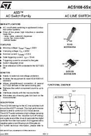 Acs1 085s Datasheet Ac Line Switch