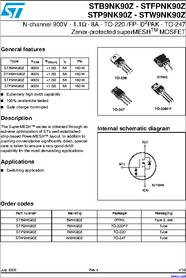 F9nk90z Datasheet N Channel 900v 1 1ohm 8a To 220