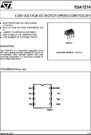 Tda7274 datasheet low voltage dc motor speed controller for 3v dc motor datasheet