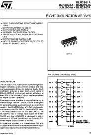 uln2801a datasheet eight darlington arrays