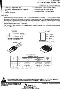Tl780 05ckte Datasheet Positive Voltage Regulators