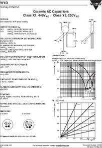 Wyo Datasheet Ceramic Ac Capacitors Class X1 440vac