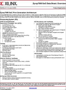 XC7Z020-2CLG400I datasheet - Xilinx Zynq®-7000 All