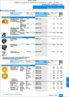 3SB3921-0AA datasheet - Specifications: Accessory Type: Cover ; For
